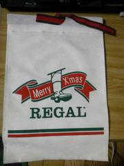 REGAL X'mas仕様巾着/不織布/白地/約28×19cm/レア