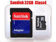 送料無料 特価 SANDISK 32GB microSDHC CLASS4 SDアダプタ付 バルク