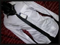 ネクタイ×リングツキシャツ 新品白3L/03P310
