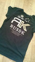100スターRUSS K バクプリ 黒 半袖Tシャツ M サーフ系