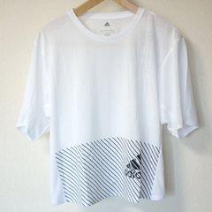 新品L★アディダス白クライマライトロゴTシャツ送料164円