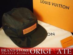 本物Supreme Louis Vuitton ルイヴィトンコラボキャップ 分割可