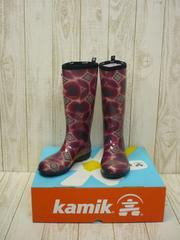 即決☆カミック TULIPE レインブーツ RED/26cm カナダ製 長靴