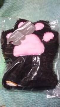 ミトンモップ【ネコの手】クロネコ