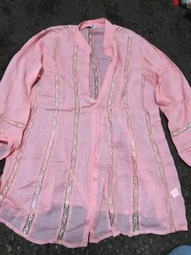 シースルー  ジャケット  春夏物 重ね着 少し大きいサイズ