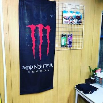 MONSTER ENERGY/縦長バナー/110�p×46�p/赤爪