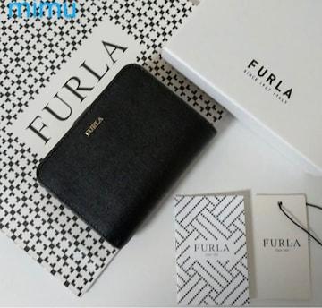 【新品】 FURLA BABYLON 2020年春夏新作 二つ折り財布 ブラック