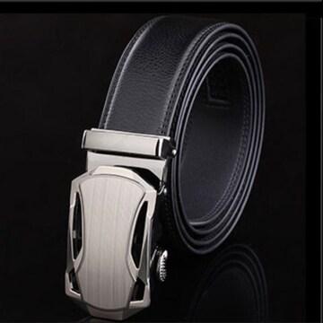 オートロック式 本革高級ベルト 110cm〜125cm 長さ選択 T