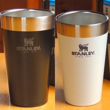 STANLEYスタッキング真空パイント2個セット☆ブラック&ホワイト