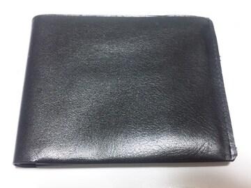 12361/Permitメイドイン東京ブラックレザー革の2つ折り財布格安
