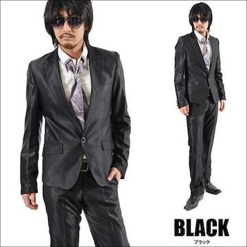1Bシャンブレースーツ新品ブラックS