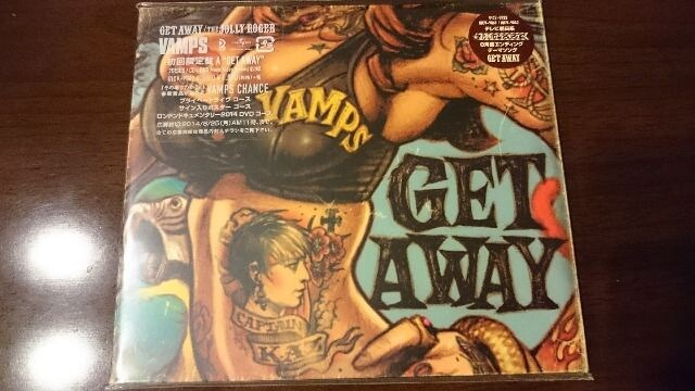 VAMPS「GET AWAY/THE JOLLY ROGER」初回DVD付/L'Arc-en-Ciel  < タレントグッズの