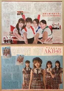 乃木坂46 AKB48 指原 須田◆月刊TVnavi 2017年10月号 切り抜き