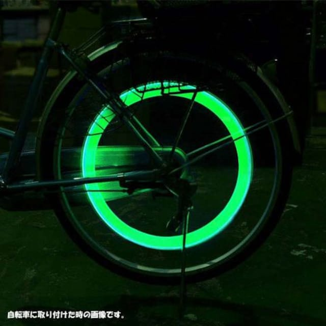LEDホイールライト緑 4個1組 激安出品!! < 自動車/バイク