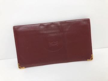 D117 美品★ カルティエ マストライン レザー 長財布 メンズ