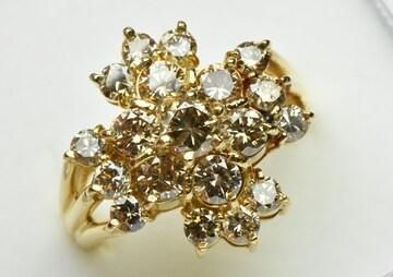 K18 ゴージャス 合計 2.00ct ダイヤモンドリング 12号 指輪