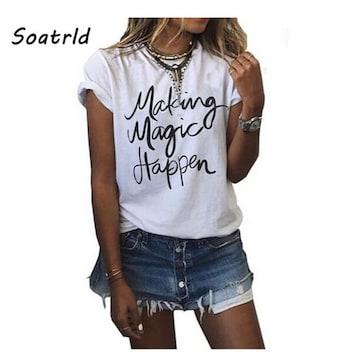 Soatrld ロゴTシャツ サイズS 韓国ファッション