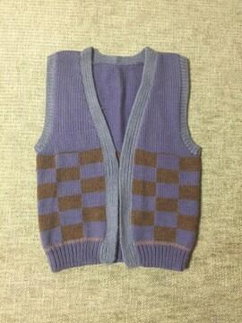 740.編み機☆羽織り ロングベスト