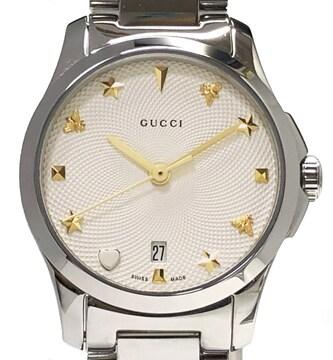新品同様正規グッチ時計GタイムレスレディースYA126572ギ