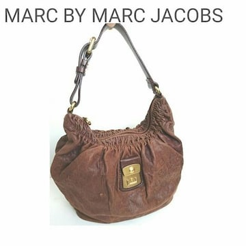 正規 MARC BY MARC JACOBS レザー ショルダーバッグ ブラウン