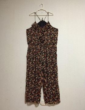 花柄◆オールインワン ロンパース サロペット サイズ4L