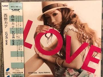 激安!激レア☆西野カナ/LOVE one.☆初回盤/CD+DVD☆帯付!超美品