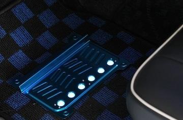 ★2色より選択★ブルーELフロアパッド フロアマットに簡単装着