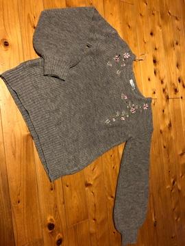 薔薇刺繍セーター160