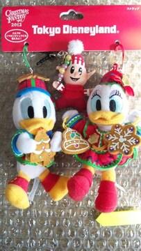 完売 ディズニー TDL クリスマス ドナルド デイジー エルフ ぬいぐるみストラップ
