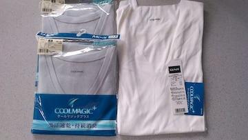 訳あり激安71%オフまとめ売り、グンゼ、Tシャツ3枚(新品、白、日本製、M)
