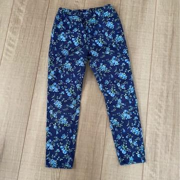 GU女の子パンツ110花柄長ズボン