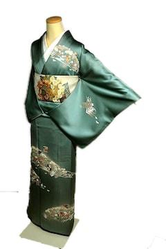 【最高級】 美品 京友禅伝統工芸士【岡山武子】訪問着 T1928