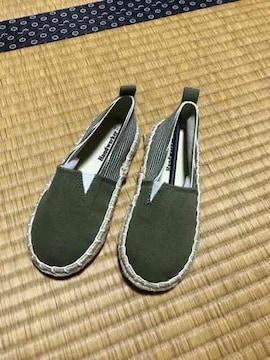 新品 キッズ エスパドリーユ 靴 スニーカー カーキ 17