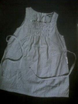 90コムサイズム黒チェックサマードレス