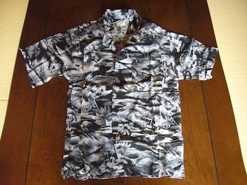 ★RED LETTEER★グレー&ブラックのオシャレなアロハシャツ