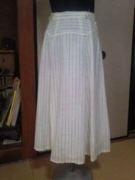 夏物フレアースカート  ストライプ柄