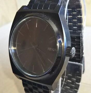 NIXON Time Teller All Black ミニマリスト 腕時計