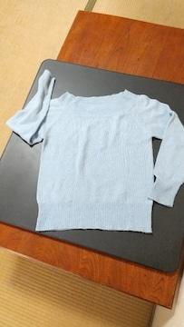 キラキラ水色セーター