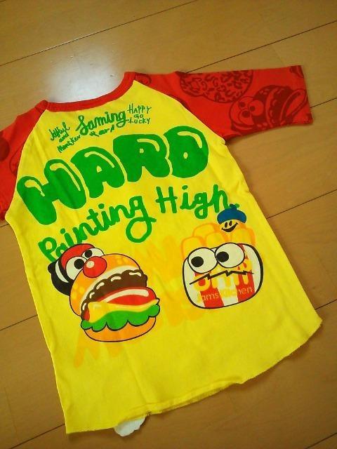 新品ドアップリケハニーTシャツ130黄ジャムJAM < ブランドの