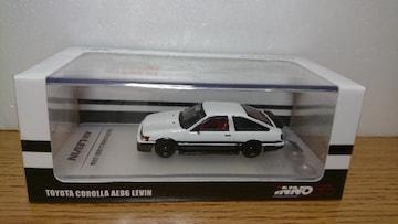 ★INNO 1:64 トヨタ カローラ AE86 レビン(白/黒)★未開封