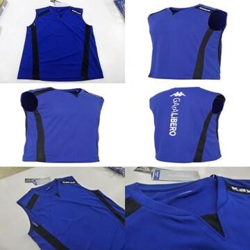 L 青紺)カッパ KF612TN21 スリーブレスシャツ 袖なしノースリーブ 薄手吸汗消臭