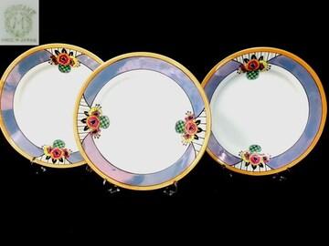 里帰りM−NIPPON1921オールドノリタケラスト彩お皿3枚セット2