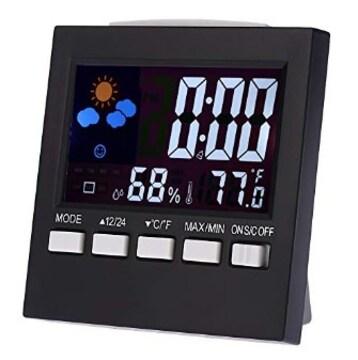 ★多機能★ 温湿度計 デジタル 置時計 アラーム カレンダー