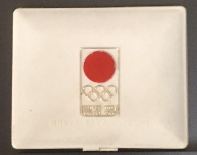 昭和39年東京五輪記念メダル銀ケース入り1個売り。  < ホビーの