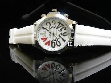 新品 腕時計 スカル ホワイト/ロエン好きに