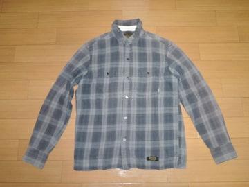 NEIGHBORHOODネイバーフッドLOGGERチェックシャツS灰系