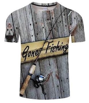 Tシャツ!釣りに行ってます!かっこいい!XXLサイズ新品