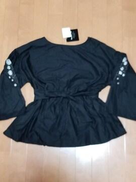 ◆袖刺繍◆リボンカットソー◆
