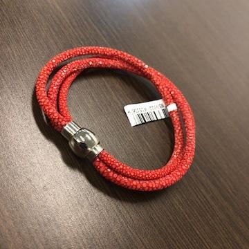 PELGIO 高級スティングレイ・ガルーシャ ブレスレット 3本(赤)