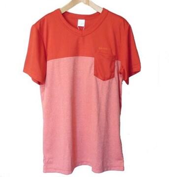 新品●送料無料◆adidas neo 赤系HM  Tシャツ(L)